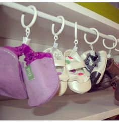 Clever infant shoe storage