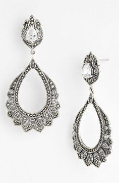 got these gorg earrings for Xmas for our wedding day... will look AMAZE with my dress!!  Judith Jack 'Glamour' Drop Earrings available at #Nordstrom