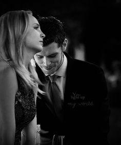"""You light up my world."" Klaroline. The Vampire Diaries. ♥"