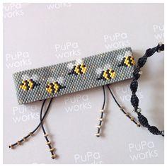Lütfen tasarımlarımı izinsiz kullanmayın!!!Design:@pupaworks. Miyuki, bileklik, bracelet, takı, jewellery, handmade, el yapımı, tasarım, boncuk, bead, bileklik, peyote, patern, seadbeads, diy, minimal, modern, diy. Diy Jewelry, Beaded Jewelry, Beaded Bracelets, Bead Embroidery Jewelry, Beaded Embroidery, Peyote Patterns, Beading Patterns, Diy Friendship Bracelets Patterns, Fabric Necklace