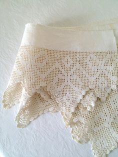 Vintage Crochet Lace Trim Bow Ribbon Pattern by TheLittleThingsVin, $25.00