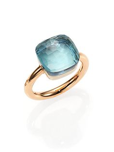 Stunning blue topaz cocktail ring. In my dreams.