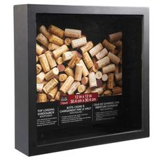 <div>This makes the perfect display case for wine corks, ticket stubs, sea shells, scrapbook pag...