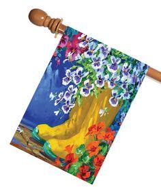 Look at this #zulilyfind! Boots & Blossoms Flag #zulilyfinds