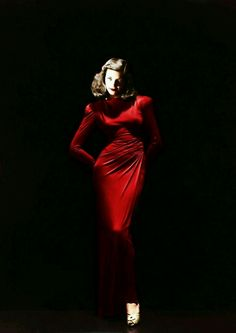 Lauren Bacall looking amazing in red... leblanc.Tumblr