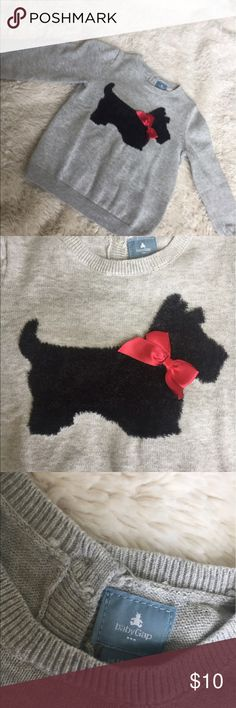 Baby Gap Sweater Baby Gap Sweater - with cute Scottie appliqué on front with satin red bow. NWOT. GAP Shirts & Tops Sweaters
