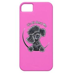 """#Animals                                        Black Toy Poodle IAAM iPhone 5 Case                   Funny design for toy black Poodle lovers.    To change the background color, click the orange """"customize it!"""" button, then select the down arrow beside """"edit"""", then """"background"""" and select a background color."""