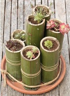 Maseta bambú