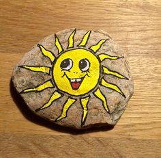Image result for hand painted sun face rocks