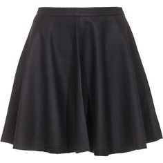 JOIE Kyla Leather Caviar // High-waist leather skirt (5.574.600 IDR) ❤ liked on Polyvore featuring skirts, mini skirts, bottoms, saias, faldas, short black skirt, leather skater skirt, leather mini skirt, black circle skirt and short skirts