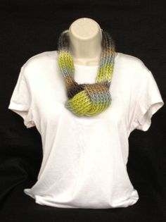 Handmade loom knitted adjustable infinity scarf by knittedbydesign