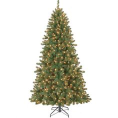 Holiday Time Pre-Lit 7' Duncan Fir Artificial Christmas Tree, Clear Lights
