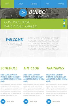 Water Polo Club #website #template. #themes #business #responsive