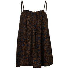 Ichi Top Top ml leafs allover print  #zomercollectie #zomerkledingdames #zomerkleding