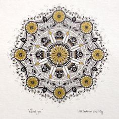 'About you' by Cape Town artist Lize Beekman. Mandala art.