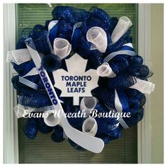 Toronto Maple Leaf Wreath by EvansWreathBoutique on Etsy