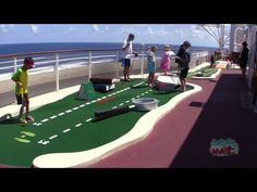 Goofy Golf mini golf on the Disney Fantasy cruise ship