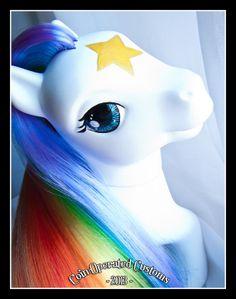 My Little Pony Starlite Rainbow inspired by Rainbow Brite OOAK custom by coinopcustoms.  #custommlp  #rainbowbrite #mylittlepony