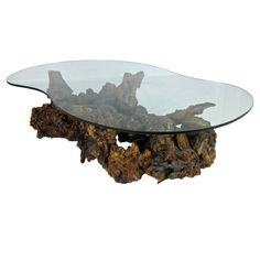 Root Burl Driftwood Coffee Table with Freeform Top USA Sculptural Burl Root Wood Coffee Table with Freeform glass top. The burl elements are expertly and seamlessly joined together and are clear lacquered. Driftwood Coffee Table, Wholesale Coffee, Wood Projects, Sculpture, Vintage, Top Usa, Wood Tables, Coffee Quotes, Furniture