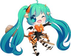 FREE Halloween Miku Pagedoll by rimuu.deviantart.com on @DeviantArt