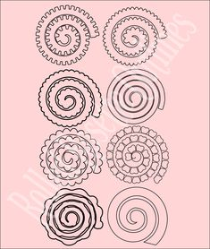 Quilled Flower Templates Svg Cricut Pinterest Flower Template