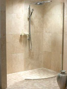 Ideas For Bath Room Shower Fixtures Wet Rooms Small Shower Room, Master Bathroom Shower, Beige Bathroom, Small Showers, Simple Bathroom, Modern Bathroom, Bath Shower, Bathroom Closet, Bathroom Showers