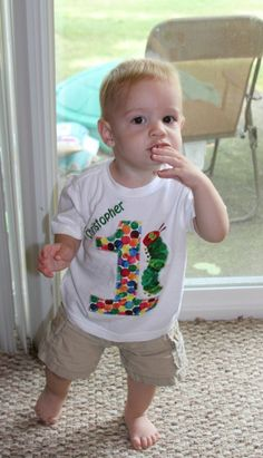 Very Hungry Caterpillar first birthday shirt and tons of decor ideas!