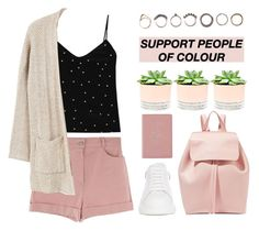 """""""21:13"""" by silvia-pbx ❤ liked on Polyvore featuring L'Agence, Iosselliani, MANGO, Hostess, Alexander McQueen, Royce Leather and Mansur Gavriel"""