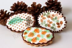 A few airbrushed cookies for Fall