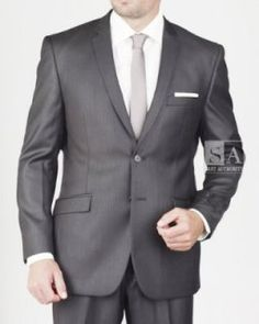 Men's 2 Button Black Tone Stripe Slim Suit Flawless attention to detail comes with our Red Label Collection, and with that, incredible style as well.