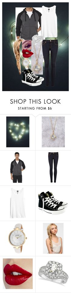 """""""Untitled #247"""" by beccaxmxoxo ❤ liked on Polyvore featuring Free People, C9 by Champion, Ted Baker, H&M, Converse, Bulova, Eva NYC and Allurez"""