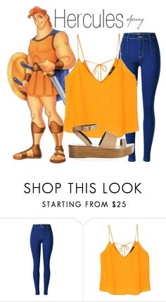"""Hercules~ DisneyBound"" by basic-disney ❤ liked on Polyvore featuring MANGO and TIBI"