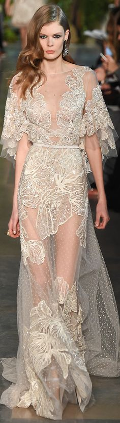Elie Saab Haute Couture SS 2015 | cynthia reccord Obviously I wouldn't wear it see-through but love the design!