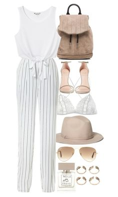 """""""Untitled #8346"""" by nikka-phillips ❤ liked on Polyvore featuring Brooks Brothers, Ray-Ban, Stuart Weitzman, Fleur of England, rag & bone, TIBI, Monki and Bella Freud"""