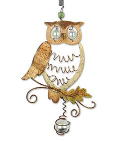 This Harvest Owl Hanging Décor by Sunset Vista Design Co., Inc. is perfect! #zulilyfinds