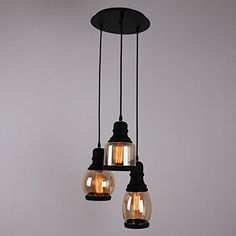 UNITARY BRAND Traditional Transparent Glass Shade Jar Hanging Ceiling Pendant Light Max. 60W With 1 Light Plating Finish, Pendant Lights - Amazon Canada