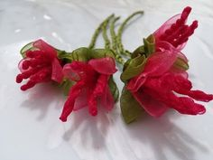 kurdele oyaları yılbaşı çiçeği yapılışı - YouTube