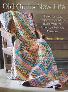 "OLD QUILTS NEW LIFE/ 18 stunning quilts designed by passionate quilter, author, and designer, Sarah Fielke. Sarah has selected nine beautiful quilts from the American Folk Art Museum and created two designs inspired by each quilt. Filled with beautiful photography and step-by-step instructions, this book is sure to delight any quilter.  Paperback. 160 pages. 10 13/16"" x 8 1/4"" x 7/16""."