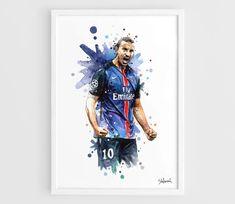 Zlatan Ibrahimovic PSG Paris A3 Wall Art Print Poster by NazarArt