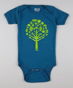 Take a look at this Blue & Green Tree Organic Bodysuit - Infant by All Good Living Kids on #zulily today!