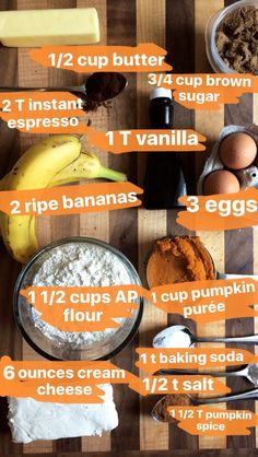 Here's what you need to make PSL Banana Bread: | This Pumpkin Spice Latte Banana…