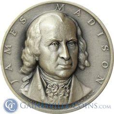 James Madison Presidential Silver Art Medal - Medallic Art http://www.gainesvillecoins.com/category/293/silver.aspx