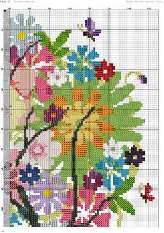 summer tree 3 Cross Stitch Boards, Cross Stitch Tree, Cross Stitch Needles, Cross Stitch Heart, Cross Stitch Flowers, Ribbon Embroidery, Cross Stitch Embroidery, Embroidery Patterns, Cross Stitch Designs