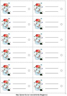 Jmenovky na dárky Christmas Labels Template, Free Christmas Printables, Diy Craft Projects, Diy And Crafts, Crafts For Kids, How To Make Planner, Label Templates, Printable Labels, Christmas Tag