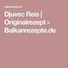 Djuvec Reis   Originalrezept » Balkanrezepte.de