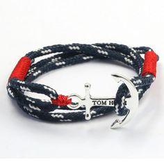 2016 New Tom Hope Anchor Bracelet pour hommes marine pulseras Bracelets homme pulseira masculina deri bilezik Mens bijoux dans Bracelets enveloppants de Bijoux sur AliExpress.com | Alibaba Group