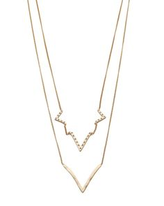 Jules Smith | Layered Curved V Necklace – Online Jewelry Boutique