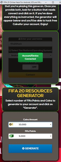 Fifa 20 Hack — Get Free Coins and Points for Android and iOS Fifa 20 Hack and Cheats — You Can Get 9999999 Coins and Points No Human Verification Fifa 20 Hack 2019 Updated — Unlimited Free Coins… Cheat Engine, Point Hacks, Fifa 20, Game Resources, Game Update, Test Card, Hack Online, Free Games, Mobile Game