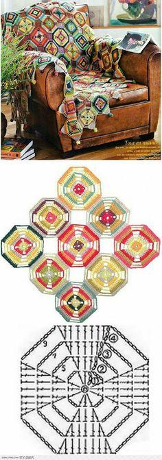 Transcendent Crochet a Solid Granny Square Ideas. Inconceivable Crochet a Solid Granny Square Ideas. Crochet Squares, Granny Square Crochet Pattern, Crochet Diagram, Crochet Stitches Patterns, Crochet Chart, Crochet Granny, Crochet Motif, Stitch Patterns, Granny Squares
