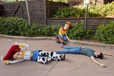 At Disney World/Land, if you yell Andy's coming in front of Toy Story characters they will stop what they're doing and drop.
